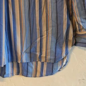 Anthropologie Tops - Anthro Odille Striped Long Sleeve Popover Top